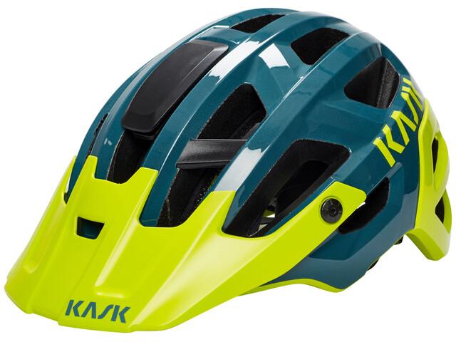 Kask Rex Helm dunkelgrün/gelb